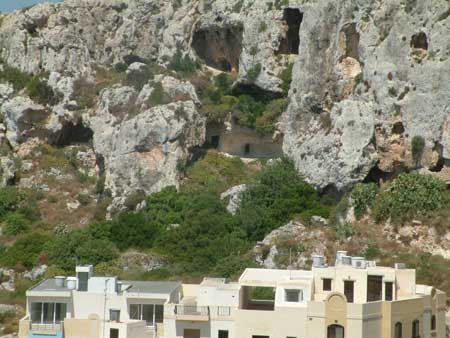 Caves and tunnels were dug in the limestone to shelter the population from bombing