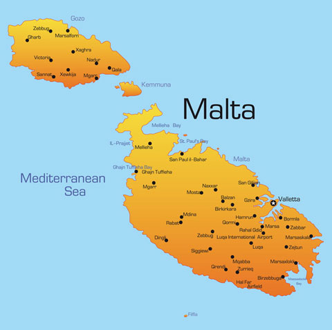 Malta Gozo and Comino in the Mediterranean
